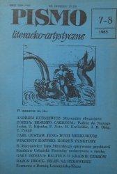 Pismo literacko-artystyczne 7-8/1985 • Carl Gustaw Jung, Ernesto Cardenal