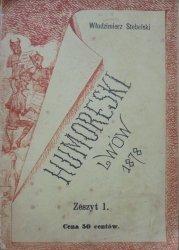 Włodzimierz Stebelski • Humoreski [1878] [dedykacja autora]