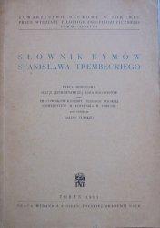 red. Halina Turska • Słownik rymów Stanisława Trembeckiego