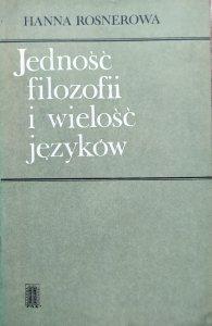 Hanna Rosnerowa • Jedność filozofii i wielość języków
