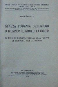 Antoni Śmieszek • Geneza podania greckiego o Memnonie, królu Etjopów [1926]