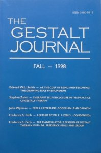 The Gestalt Journal Fall - 1998 • Frederick S. Perls