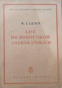 Włodzimierz Lenin • List do robotników amerykańskich