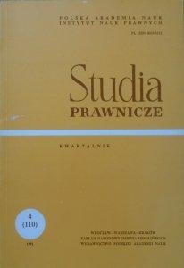 Studia prawnicze zeszyt 4 (110) 1991