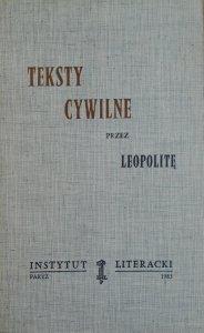 Roman Zimand • Teksty cywilne przez Leopolitę [Instytut Literacki]
