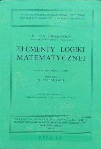 Jan Łukasiewicz • Elementy logiki matematycznej