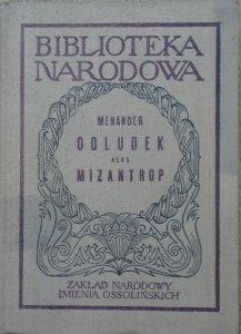 Menander • Odludek albo Mizantrop