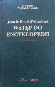 Jean le Rond d'Alembert • Wstęp do encyklopedii [zdobiona oprawa]