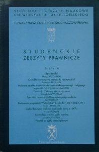 Studenckie Zeszyty Prawnicze UJ zeszyt 4