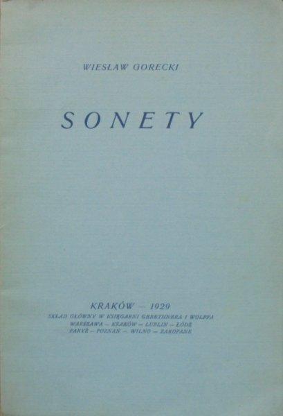Wiesław Gorecki • Sonety [dedykacja autora]