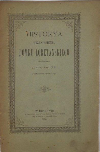 p. Vuillaiume • Historya przeniesienia domku loretańskiego