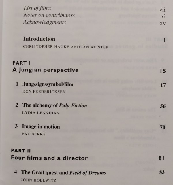 Jung and Film • Post-Jungian Takes on the Moving Image