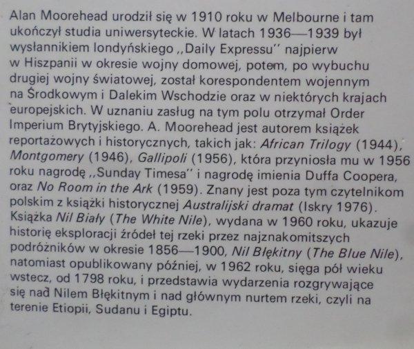 Alan Moorehead • Nad Nilem Błękitnym i Białym
