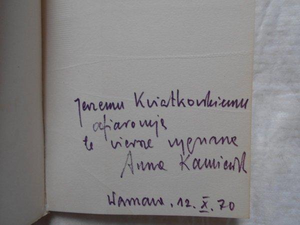 Anna Kamieńska • Wygnanie [dedykacja autora]
