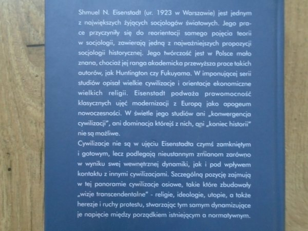 Shmuel N. Eisenstadt • Utopia i nowoczesność. Porównawcza analiza cywilizacji
