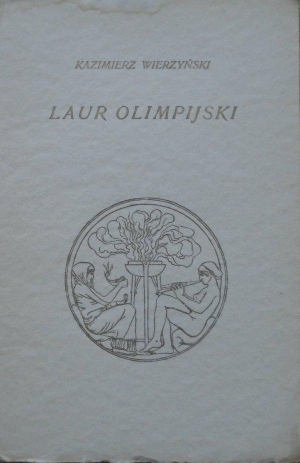 Kazimierz Wierzyński • Laur olimpijski [1927]