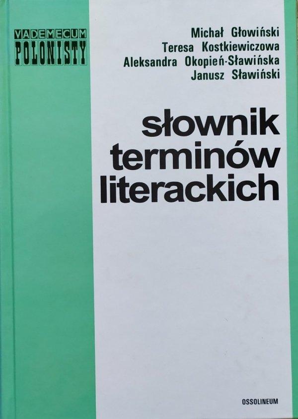Słownik terminów literackich Głowiński Sławiński