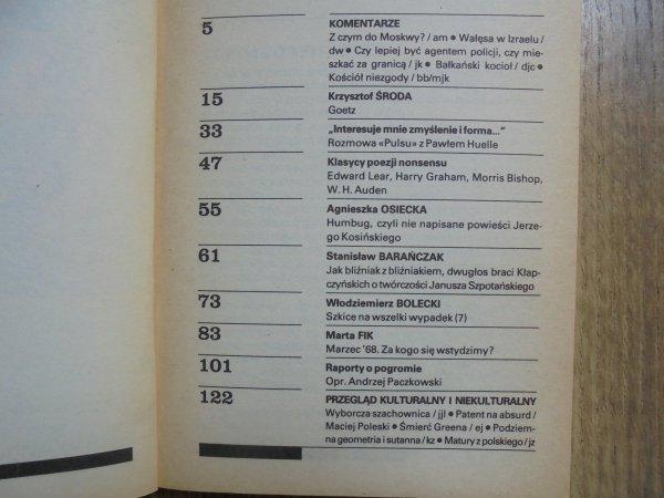 Puls 50 numer 3/1991 • Stanisław Barańczak, Auden, Bishop, Osiecka