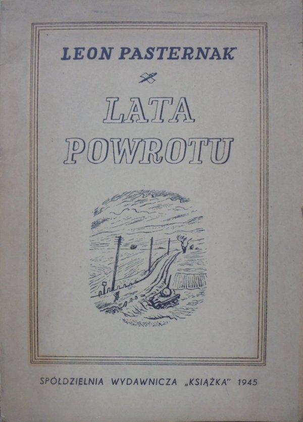 Leon Pasternak • Lata powrotu [dedykacja autora]