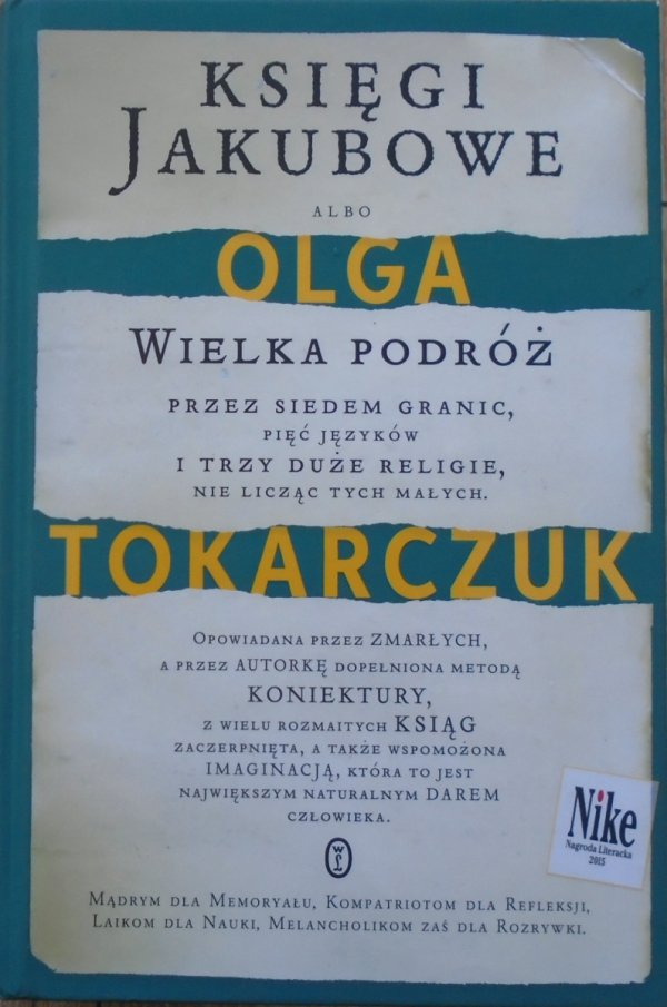 Olga Tokarczuk • Księgi Jakubowe