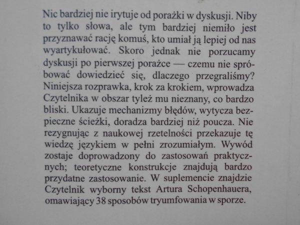 Leszek Lachowiecki • Sztuka zwycięskiej dyskusji. Schopenhauer