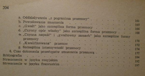 Tadeusz Hanausek • Przemoc jako forma działania przestępczego