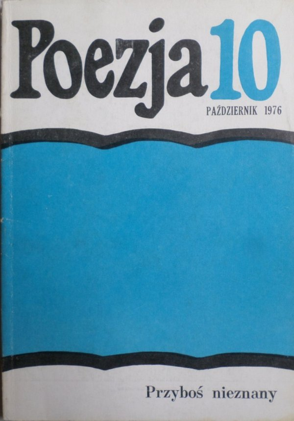 Poezja 10/1976 Przyboś nieznany