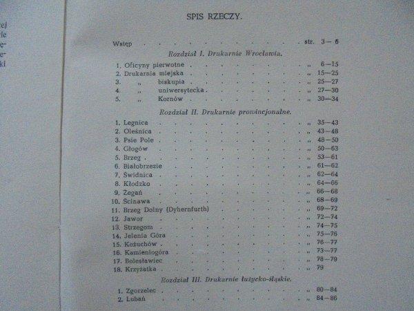 Bronisław Kocowski • Zarys dziejów drukarstwa na Dolnym Śląsku