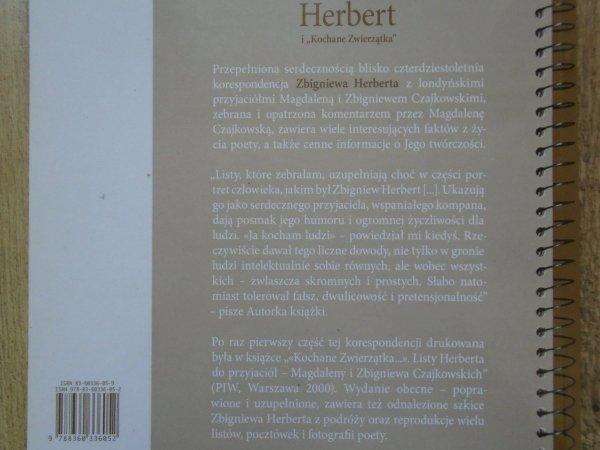 wybór listów z komentarzem Magdaleny Czajkowskiej • Herbert i 'Kochane Zwierzątka'