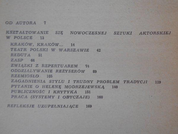Henryk Szletyński • Kształtowanie się nowoczesnej sztuki aktorskiej w Polsce
