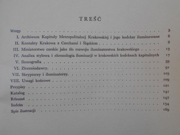 Barbara Miodońska • Iluminacje krakowskich rękopisów na Wawelu. Pierwsza połowa wieku XV