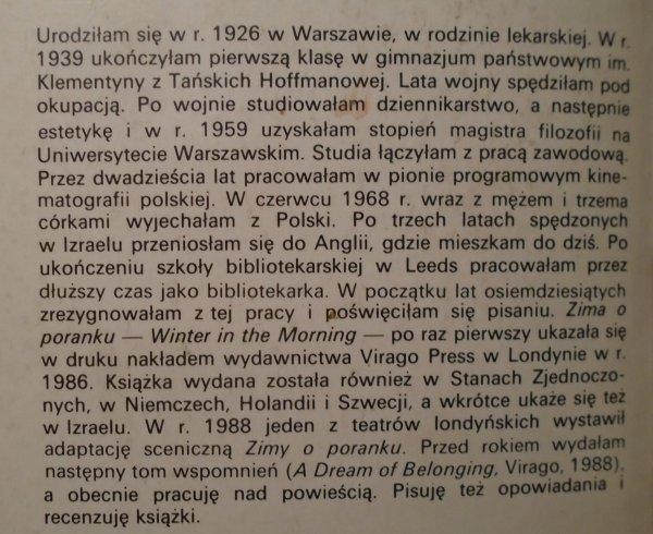 Janina Bauman • Zima o poranku. Opowieść dziewczynki z warszawskiego getta