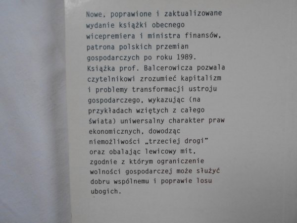 Leszek Balcerowicz • Wolność i rozwój
