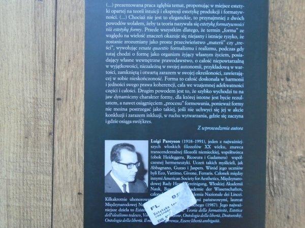Luigi Pareyson • Estetyka. Teoria formatywności