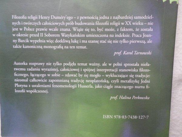 Joanna Barcik • Nienazywalne ma wiele imion Henry Dumery