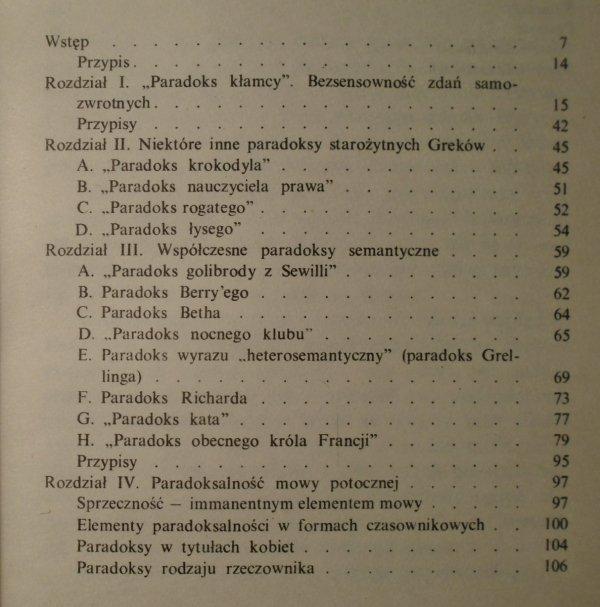 Eugeniusz Grodziński • Paradoksy semantyczne [dedykacja autorska]