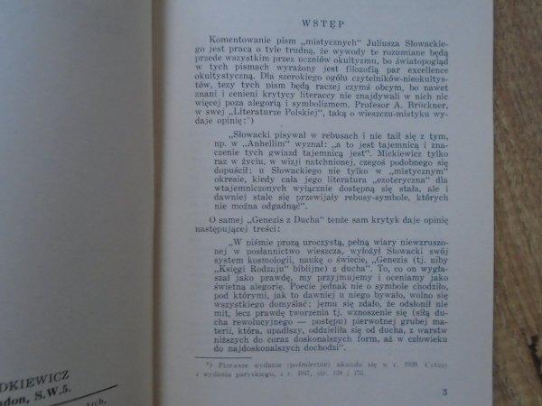 Juliusz Słowacki • Genezis z ducha [Biblioteka Okultystyczna, Londyn 1957]