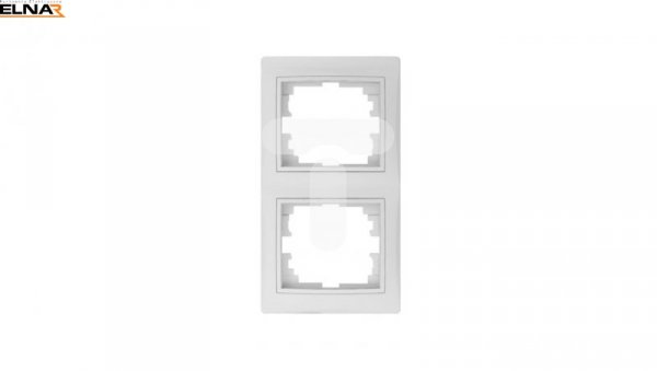 DOMO Ramka podwójna pionowa Biały 011520002 24767
