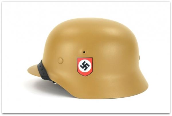 MH064 HEŁM NIEMIECKI M40 WAFFEN SS DAK - DUNKELGELB