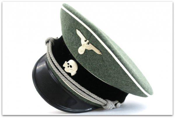 MC019 OFICERSKA CZAPKA SCHIRMMUTZE PIECHOTA WAFFEN-SS - SUKNO