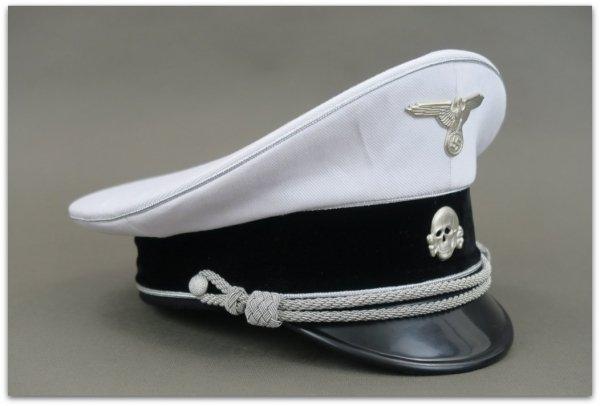 MC037 CZAPKA STARSZY OFICER ALLGEMEINE SS BIAŁA