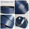 Uchwyty długie - Skóra 3 CM, gładkie, nitowane lub oczkowane