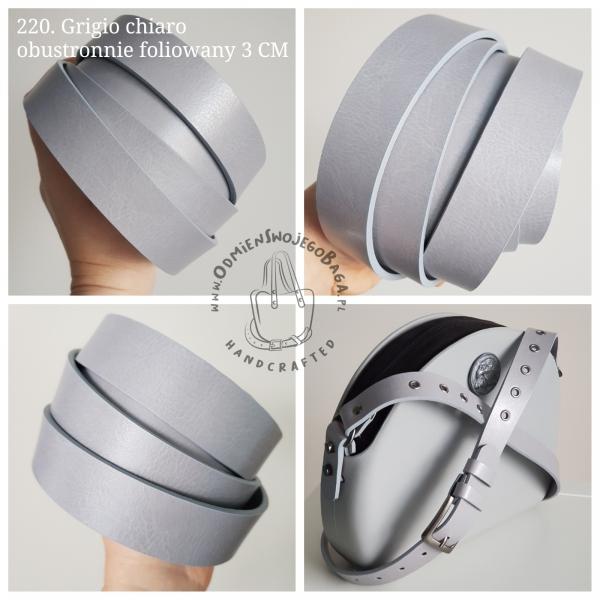 Nowe uchwyty 3w1 - Skóra 3 CM, gładkie, nitowane lub oczkowane