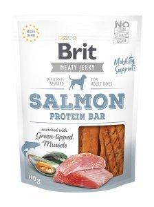 Brit Jerky Snack–Salmon Protein bar 80g