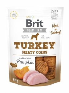 Brit Jerky Snack – Turkey Meaty coins 80g