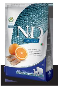 Farmina N&D Grain free Fish & Orange Adult Medium 800g