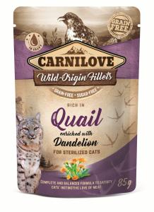 CARNILOVE CAT POUCH QUAIL&DENDELION STERILIZED 85g