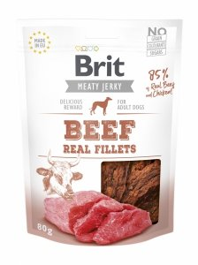 Brit Jerky Snack-Beef and chicken Fillets 80g
