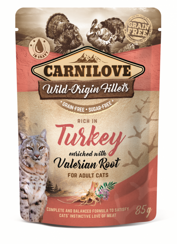 CARNILOVE CAT POUCH TURKEY&VALERIAN  85g