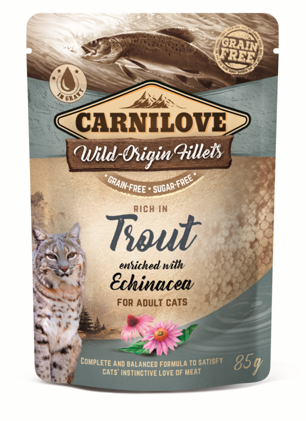 CARNILOVE CAT POUCH TROUT&ECHINACEA 85g